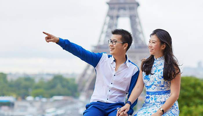 Paris turistler