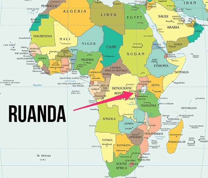 Ruanda harita