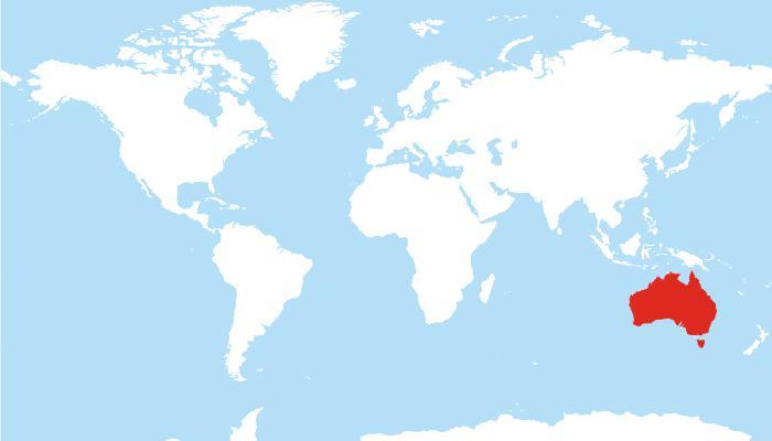 Avustralya harita