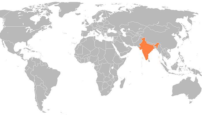 Hindistan harita