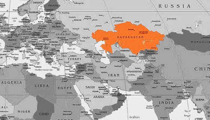 Kazakistan harita